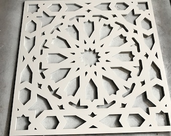 Geomtric Square Wooden panel
