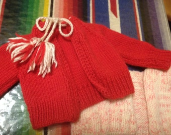 Two Vintage Doll Sweaters 50's 60's