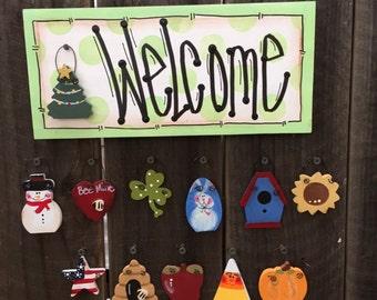 "Mini Welcome Sign ""Green"""