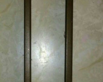 Pair of Antique Brass Swing Curtain Rods