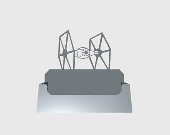 Star Wars Tie Fighter Desktop Business Card Holder/Desktop Accessory/Office Supply