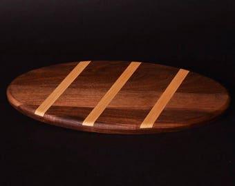 Bread Board in walnut with Maple insert
