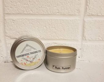 Rum Runner Scented Candle, Soy Candle, 8 ounce Candle, Handmade Candle, Hand Poured Candle, Gift, Home Decor, Candle