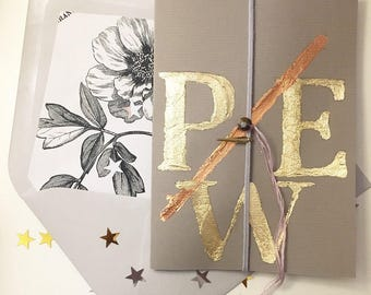 Stunning Luxury Personalised Keepsake Card