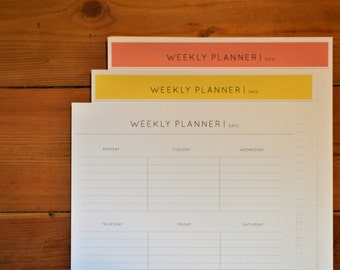 Weekly Planner, Planner Printable, Week Planner, Minimalist, Productivity, Time Planner, Instant Download