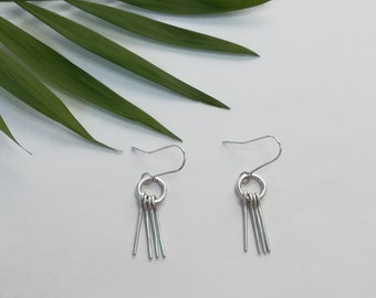 Small Silver Fridge Earrings|Drop Wire Earrings|Sterling Silver.