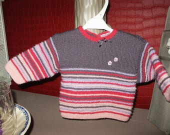 sweater jacket for little girl at the waist