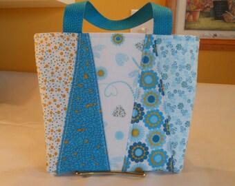 Little Girl's Purse...Dresden Plate....Mini Tote Bag...Girls Handbag