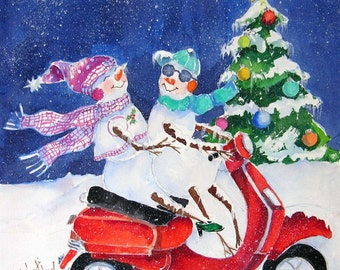 New Scooter Christmas Cards
