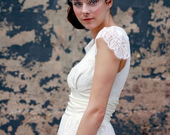 Blush Birdcage Veil, Bridal Veil, Wedding Veil, Bridal Headpiece, Wedding Hairpiece, Hair Accessories, Wedding Hair Comb, Blusher Veil