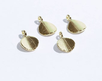 Gold Plated Shell Charms,Shell Connector Bead, Gold Plated Supplies,Mini Shell  Charms,Shell  Connector SKU/AK64
