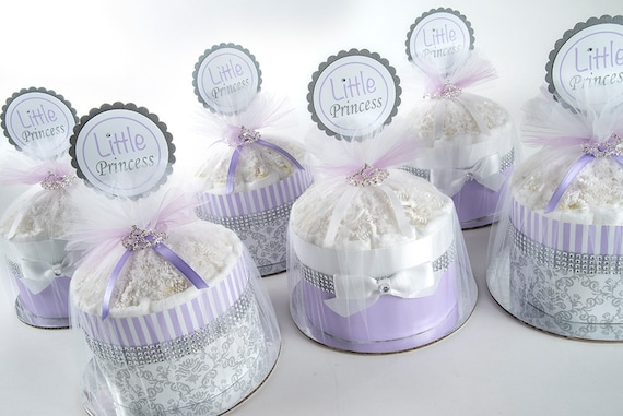 Diaper Cakes - Mini Diaper Cake Set - Baby Girl Baby Shower - Baby Shower Decor - Baby Shower Centerpiece - Mix and Match