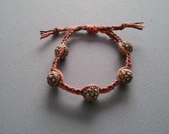 Daisies, Friendship Bracelet, Hemp Jewelry