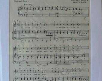 FRAMED SHEET MUSIC - Music! Music! Music!