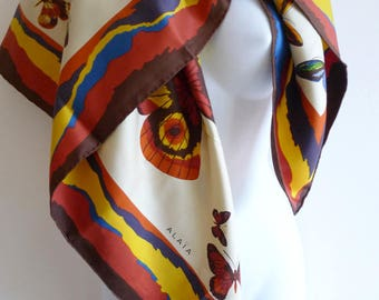 Alaia butterfly silk square scarf
