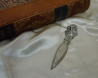 """Bookmark Victorian Sterling with Monogram, Anchor, Flowers 3 5/8""""  Stunning"""