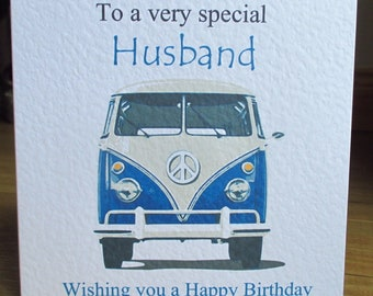 Personalised Campervan Birthday Card Any Relation Any Age