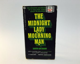 Vintage Thriller Book The Midnight Lady and the Mourning Man by David Anthony 1973 Paperback