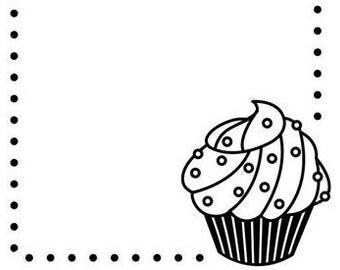 Cupcake Embossing Folder