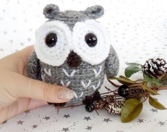 Little Crochet Owl Toy // Toy Owl Owlette Owl Plush Stuffed Owl Amigurumi Owl Lover Gift Owl Gift Owl Plushie Little Owl Toy