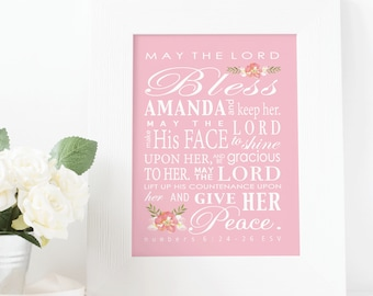 Religious baby gift etsy may the lord bless you and keep you baby shower gift baby baptism gift negle Choice Image