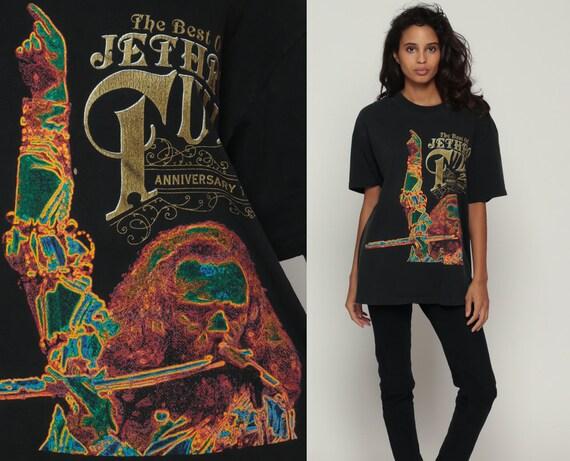 Santana Shirt JEFF BECK Shirt 90s Band Tee Concert Rock tshirt 1990s Band T Shirt Tour Shirt Vintage Rock n Roll Black Rocker Large 25d5E89PgS