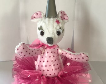 Pink plush mouse tooth fairy