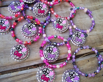 Zebra Girls Cheerleading Cheerleader Cheer Team Gift Birthday Party Favor Bracelet 6pk