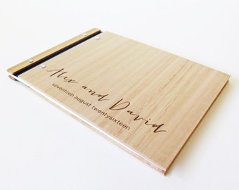 Wedding Guest Book, Gay Wedding, Wood Album, Photo Album, Engagement Gift, Same Sex Marriage