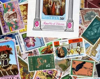 Africa Stamps, 50 Diff, Africa Postage Stamps, African Stamps,African Postage Stamps, Postage Stamps, Stamps, African postage stamps,Stamps