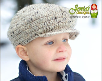 Crochet pattern the belmont scally cap newsboy hat 1920s hat crochet pattern scally cap newsboy hat for baby infant toddler child teen adult scally cap for boys and girls dt1010fo