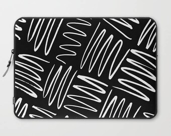 Black and White Laptop Sleeve, Laptop Cover, Sleeve, Laptop Sleeve 13, Laptop Sleeve 15, MacBook Sleeve 13, Laptop Sleeve 13 inch