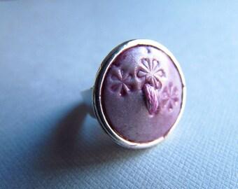 Bague bouton, Button ring