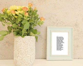 Sympathy Gift - Poem Print for Loss of Mom - Sympathy Gifts Mother Daughter or Grandmother