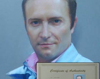"Custom portrait pastel painting 19,5""x26,5"""
