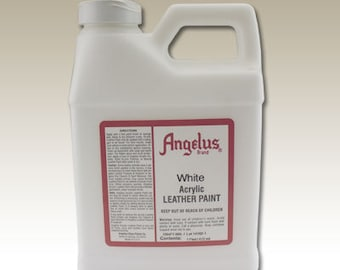 White Angelus Acrylic Leather Paint - 16 oz Bottle