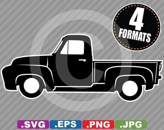 1955 ford f100 pickup clip art image svg cutting file plus