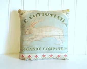 Rabbit pillow | Easter decorations | Farmhouse Decor | Peter Cotton Tail | Easter Bunny | Rustic | Easter gift | Spring decor | Bunny Pillow