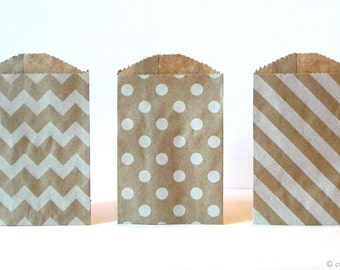 20 Mini Kraft Bags Mini Paper Bags kraft gift bags 2.75 x 4  Wedding Favor Bags Packaging Pack of 20