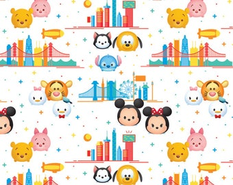 Disney Fabric Tsum Tsum Fabric Tsum Travel From Springs Creative 100% Cotton