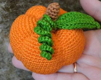 Crochet Vegetables PumpkinToy Amigurumi Pumpkin Sensory Toys Play Food Kitchen Decoration Eco-friendly Toys Birthday Gift Halloween Decor