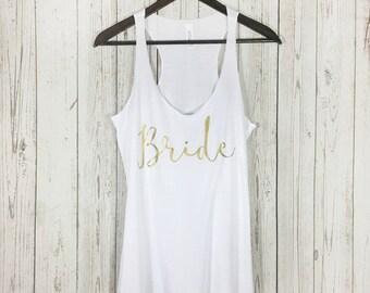 Bride Tank Top, Bride Tank, Bride Shirt, Bachelorette Party, Bridal Shower Gift, Bride, Bachelorette Tank, Mrs Tank, Wifey Tank, Bride to Be