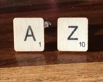 Scrabble tile cufflinks