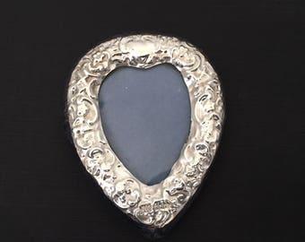 1985 Vintage Miniature Cartouch Silver Frame, London Sterling Frame.