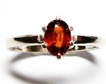 "Madeira citrine ring, citrine ring, citrine, red orange  ring, solitaire ring, birthstone ring, s 4 1/2 ""Sunset"""
