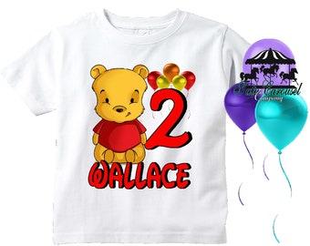 Winnie The Pooh Birthday Shirt, Personalized Shirt  (mc615)
