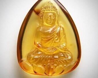 Amber Buddha Carving