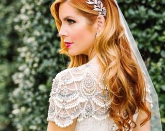Bridal Tiara -  Lady MARY, Swarovski Bridal Tiara, Leaf Tiara, Downton Abbey Tiara, Wedding Tiara, Bridal Crown, Lady of the Manor Headpiece