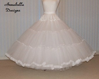 Petticoat Fairytale 7 layer stiff net Bridal petticoat custom made with choice of colour