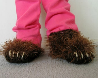 6 inch Bear Paw Slippers